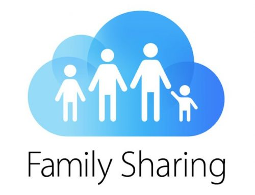 Using Apple's family sharing plan